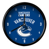 Vancouver Canucks Black Rim Clock - Basic