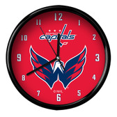 Washington Capitals Black Rim Clock - Basic
