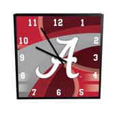Alabama Crimson Tide Carbon Fiber 12in Square Clock