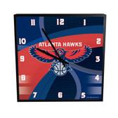 Atlanta Hawks Carbon Fiber 12in Square Clock