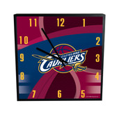 Cleveland Cavaliers Carbon Fiber 12in Square Clock
