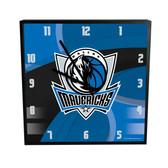 Dallas Mavericks Carbon Fiber 12in Square Clock