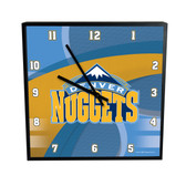 Denver Nuggets Carbon Fiber 12in Square Clock