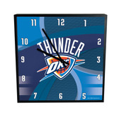 Oklahoma City Thunder Carbon Fiber 12in Square Clock