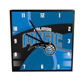 Orlando Magic Carbon Fiber 12in Square Clock