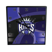 Sacramento Kings Carbon Fiber 12in Square Clock