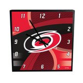 Carolina Hurricanes Carbon Fiber 12in Square Clock