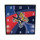Florida Panthers Carbon Fiber 12in Square Clock