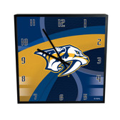Nashville Predators Carbon Fiber 12in Square Clock