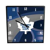 Toronto Maple Leafs Carbon Fiber 12in Square Clock