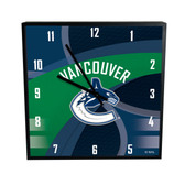 Vancouver Canucks Carbon Fiber 12in Square Clock