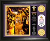 "Los Angeles Lakers Kobe Bryant ""Final Season"" Banner Bronze Coin Photo Mint"
