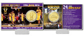 "Los Angeles Lakers Kobe Bryant ""Final Season"" Bronze Coin Card"