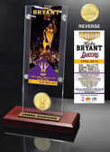 "Los Angeles Lakers Kobe Bryant ""Final Season"" Ticket & Bronze Coin Acrylic Desk Top"