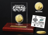 2016 Stanley Cup Final Dueling Gold Coin Etched Acrylic