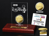 Cleveland Cavaliers 2016 NBA Finals Dueling Gold Coin Etched Acrylic