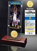 Golden State Warriors Klay Thompson Ticket & Bronze Coin Acrylic Desk Top