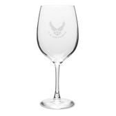 US Air Force Deep Etched 19oz Red Wine Goblet