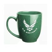 US Air Force Deep Etched 15oz Green Bistro Mug