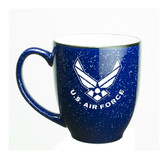 Us Air Force Deep Etched 15oz Cobalt Bistro Mug