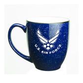 Us Air Force Deep Etched 15oz Cobalt Bistro Mug