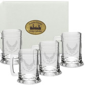 US Air Force Deep Etched Colonial Tankard Set of 4