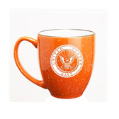 US Navy Deep Etched 15oz Orange Bistro Mug