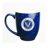 US Navy Deep Etched 15oz Cobalt Bistro Mug
