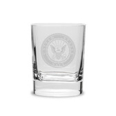 US Navy Deep Etched 11.75 oz Double Old Fashion Glass