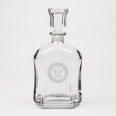 US Navy Deep Etched Whiskey Decanter