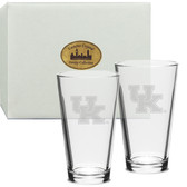 Kentucky Wildcats Deep Etched Deep Etched Classic Pub Glass Set of 2