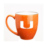 Miami Hurricanes 15 oz. Deep Etched Orange Bistro Mug