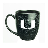 Miami Hurricanes 15 oz. Deep Etched Black Bistro Mug