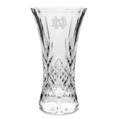 Notre Dame Fighting Irish 11.75 inch Deep Etched Cristal D'Arques Vase