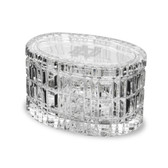 Notre Dame Fighting Irish 5 Inch Deep Etched Oval Crystal Table Box