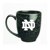 Notre Dame Fighting Irish 15 oz. Deep Etched Black Bistro Mug