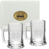 Notre Dame Fighting Irish Deep Etched Colonial Tankard Set of 2