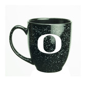 Oregon Ducks 15 oz. Deep Etched Black Bistro Mug