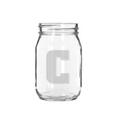 Columbia University 16 oz. Deep Etched Old Fashion Drinking Jar