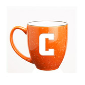 Columbia University 15 oz. Deep Etched Orange Bistro Mug