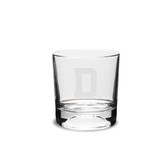 Dartmouth College Deep Etched  10.5 Oz Football Deep Etched Double Old Fashion Glass