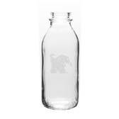 Memphis Tigers 33.5 oz. Deep Etched Milk Bottle