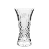 Memphis Tigers 9.25 inch Deep Etched Cristal D'Arques Vase