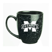 Mississippi State Bulldogs 15 oz. Deep Etched Black Bistro Mug