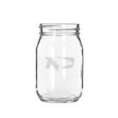 North Dakota Sioux 16 oz. Deep Etched Old Fashion Drinking Jar