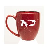 North Dakota Sioux 15 oz. Deep Etched Red Bistro Mug
