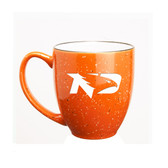 North Dakota Sioux 15 oz. Deep Etched Orange Bistro Mug