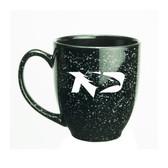 North Dakota Sioux 15 oz. Deep Etched Black Bistro Mug