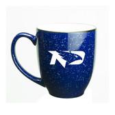 North Dakota Sioux 15 oz. Deep Etched Cobalt Bistro Mug