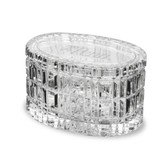 Penn Quakers 5 inch Deep Etched Crystal Table Box